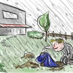Just plant this raincoat in your garden (cartoon Tertium)