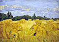 Field with corn sheaves, August Haake (1911-1914)