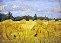 Veld met korenschoven, August Haake (1911-1914)