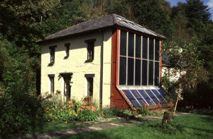 House with solar wall
