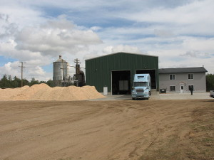 Wood pellet facility