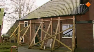 Earthquake damage in Groningen province
