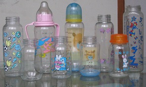 Baby bottles food packaging