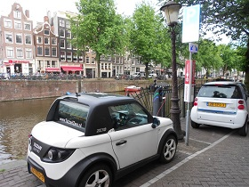 Charging point in Amsterdam