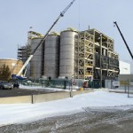 Biobased chemicals (here: BioAmber facility in Sarnia, Canada, under construction) create much more jobs than biofuels.