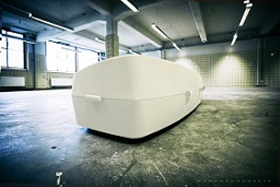 ONORA coffin made of natural fibre composites