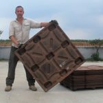 Michiel Vos and a CocoPallet.