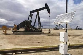 Solar powered oil drill