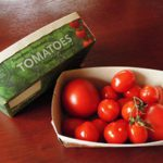 Horticulturalists always look for new markets. Tomato trays can now be made from stems of the tomato plant.
