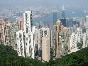 Hongkong Victoria Peak. Ecomodernism values positively urbanisation.