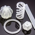 Objects 3D printed with cellulose nanofibrils.