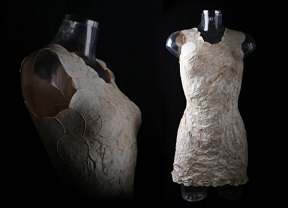Dress made from mycotex.