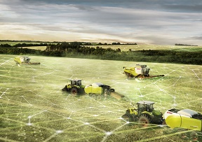 Connected machines for precision farming.