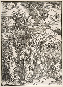 Apocalypse, Angels Restraining the Four Winds by Albrecht Dürer