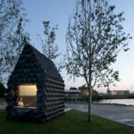 Dus urban cabin in Amsterdam, made from 3D printed bioplastic.