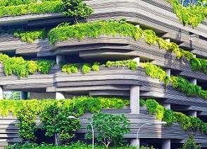 trees façade garden