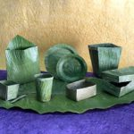 Products made from banana leaves.