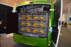 Batterijen in een bus