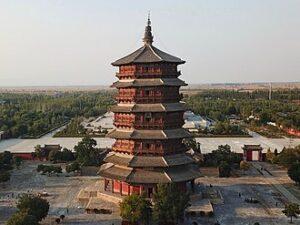 pagode van bouwhout