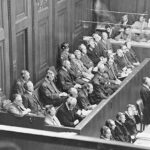 The IG Farben Nuremberg process, 14 August 1947 – 30 July 1948. Ten of the 23 suspects are acquitted, among them Heinrich Hörlein. Photo: Wikimedia Commons.