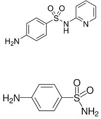 sulfanilamide and sulfapyridine