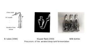 Precursors of the aerated deep tank fermentation